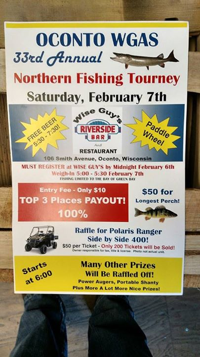 Oconto county events oconto wgas 33rd annual northern for Oconto fishing report